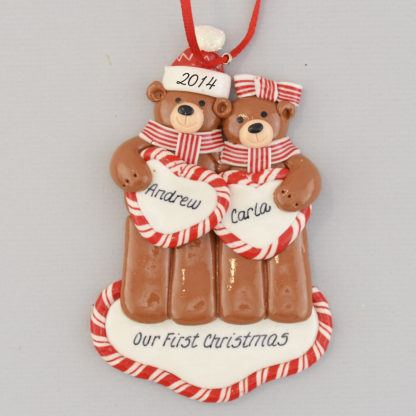 A Couple's First Christmas Together Personalized Ornament