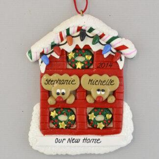 Our Home for 2 Personalized Christmas Ornaments