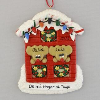 From My House to Yours Feliz Navidad personalized christmas Ornaments