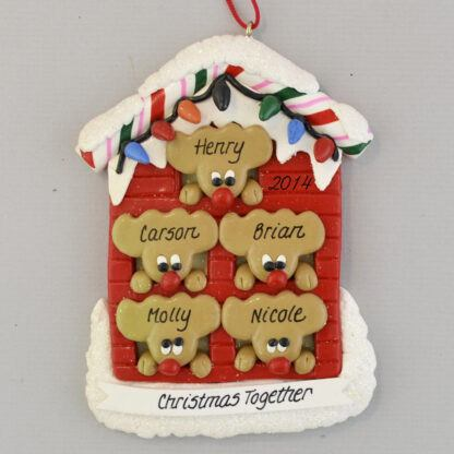 Our Home for 5 Personalized Christmas Ornaments