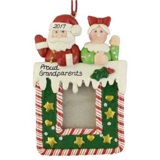 Grandparents Photo Frame personalized christmas Ornaments