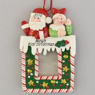Baby's 1st Christmas Photo Frame Personalized christmas Ornaments