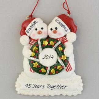 Grandparent's Anniversary Personalized Christmas Ornaments
