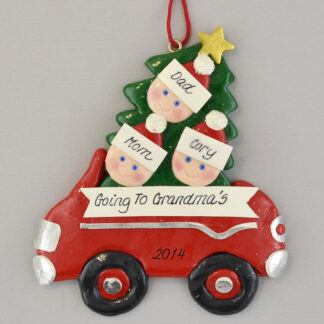 Going to Grandma and Grandpa's Personalized Christmas Ornaments