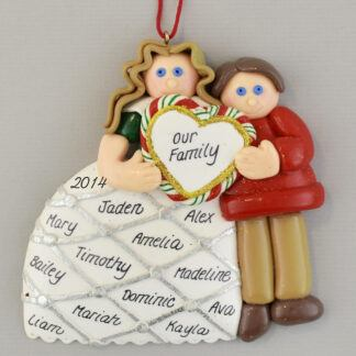 Parents with Heart Personalized christmas Ornaments