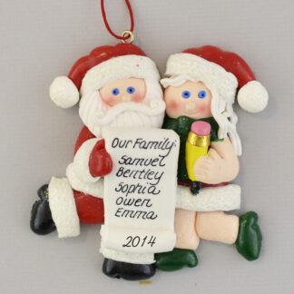 Our Family Personalized Christmas List Ornaments