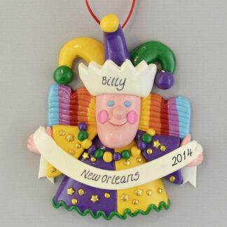The Mardi Gras New Orleans Jester Claydough Decoration