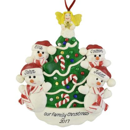 Snowmen beside the Christmas Tree (4) personalized chirstmas ornaments
