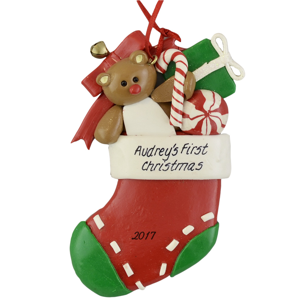 A Babys First Christmas Custom Holiday Ornaments Calliope