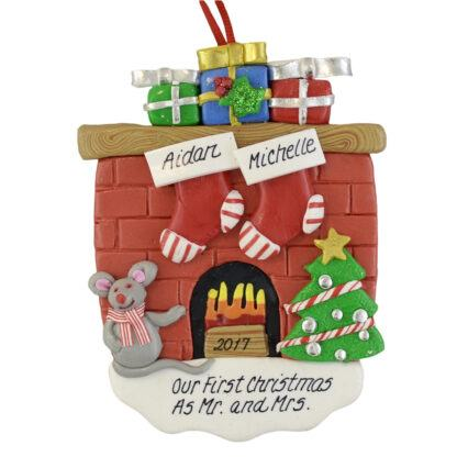 A First Christmas as Mr. and Mrs personalized christmas ornaments