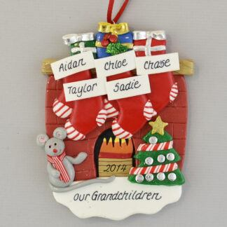 The Blessing of Grandchildren Claydough personalized christmas Ornaments