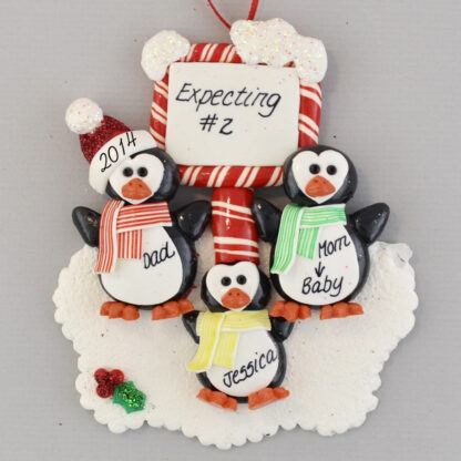 Expecting #2 Personalized Christmas Ornament