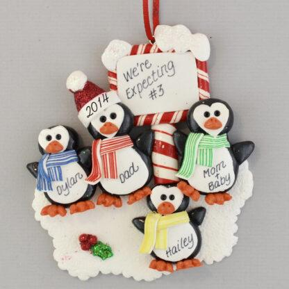 Expecting #3 Personalized Christmas Ornament