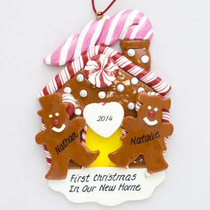 First Christmas Gingerbread House personalized Ornaments