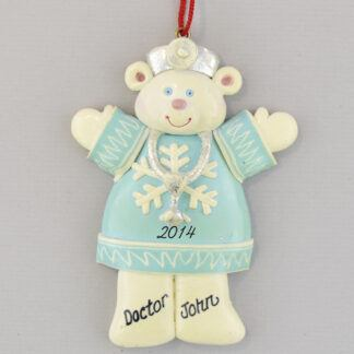 Doctor Polar Bear personalized christmas Ornaments