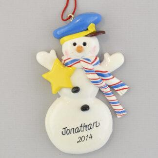 Police Snowman Personaized Christmas Ornaments