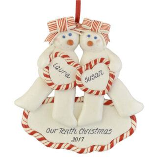 Snow Girls Partners personalized christmas ornaments
