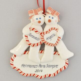 Sisters Forever Personalized Christmas Ornaments