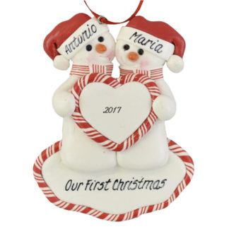An Our First Christmas personalized ornaments