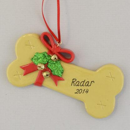 Dog Bone personalized christmas Ornaments