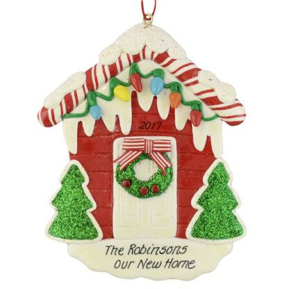 Personalized House personalized christmas ornaments