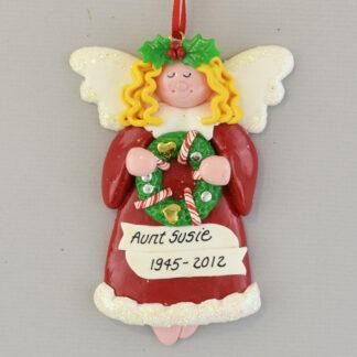 In Memory of Someone Special Blonde Angel Personalized christmas Ornaments