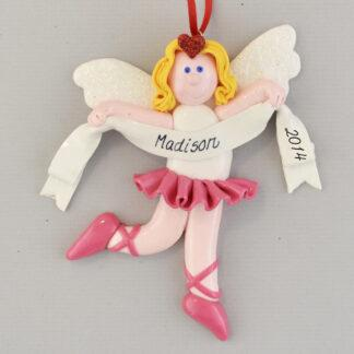 An Angel Ballerina Personalized Christmas Ornaments