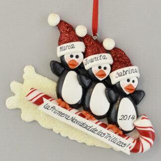 Triplet's First Christmas Personalized Feliz Navidad Ornaments