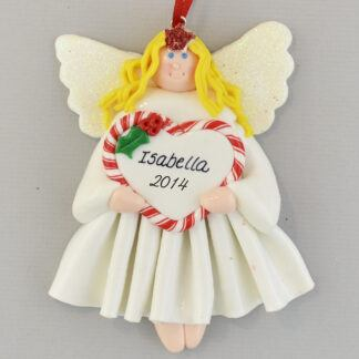 Blonde Angel Feliz Navidad personalized christmas Ornaments