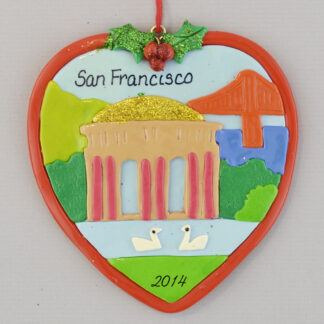 San Francisco Palace of Fine Art personalized Christmas Ornaments