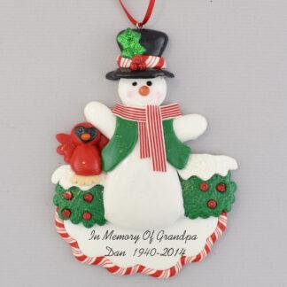 In Memory of Grandpa Personalized Christmas Ornaments