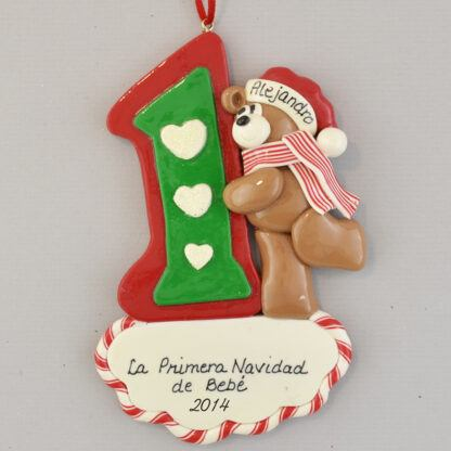 First Christmas Teddy Bear personalized christmas Ornaments