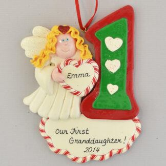 First Granddaughter Personalized Christmas Ornament