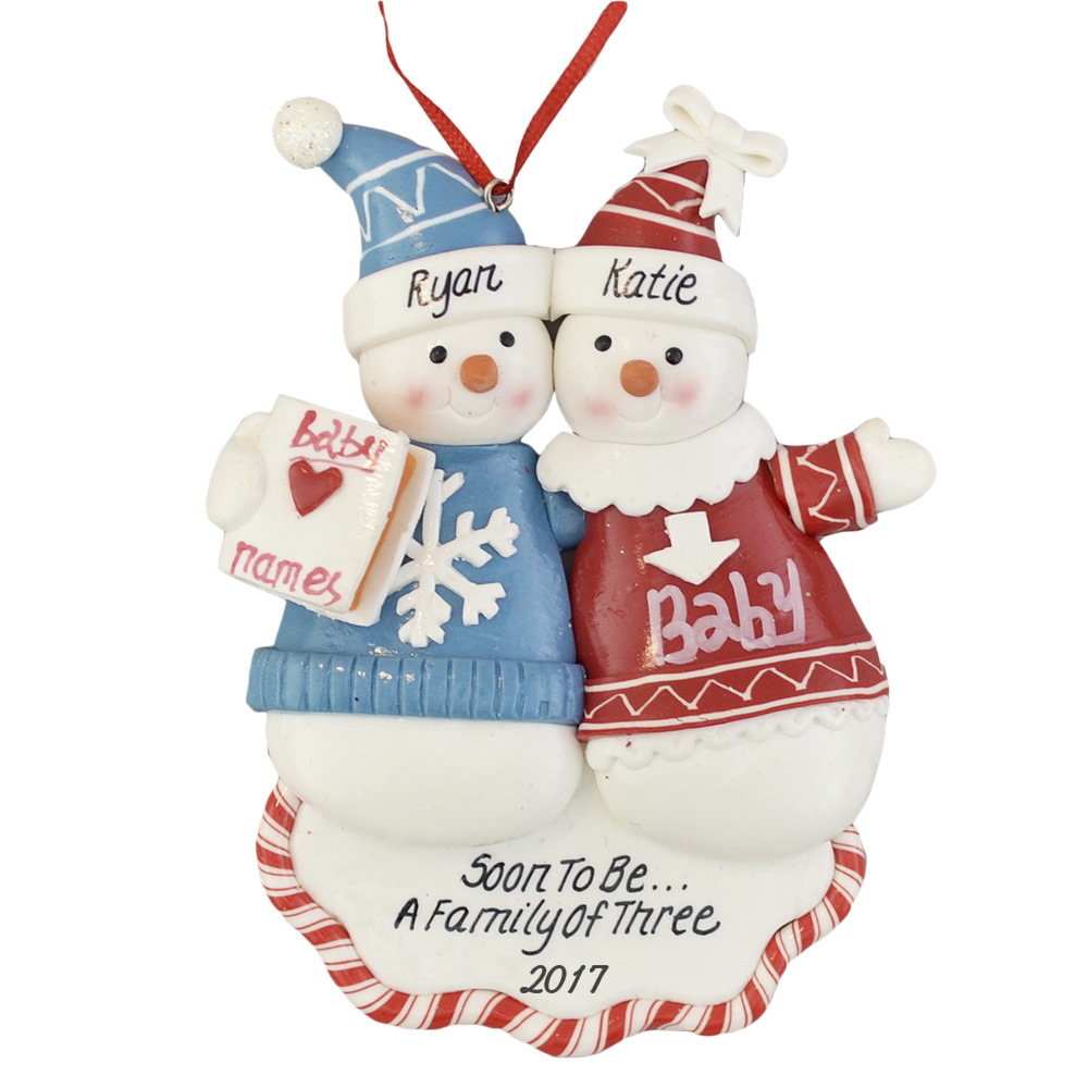 Expecting Christmas Ornaments.A Pregnant Couple Christmas Ornament
