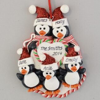 Personalized Penguin Family (5) personalized christmas Ornaments