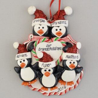 Grandparents of Three Personalized Ornament