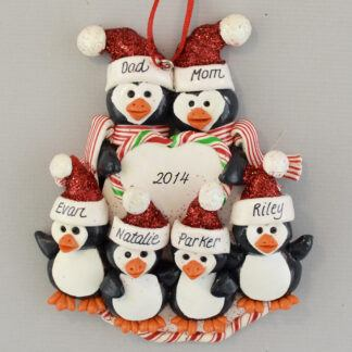 Personalized Penguin Family (6) personalized christmas Ornaments