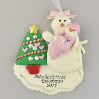 First Born Daughter personalized christmas Ornaments