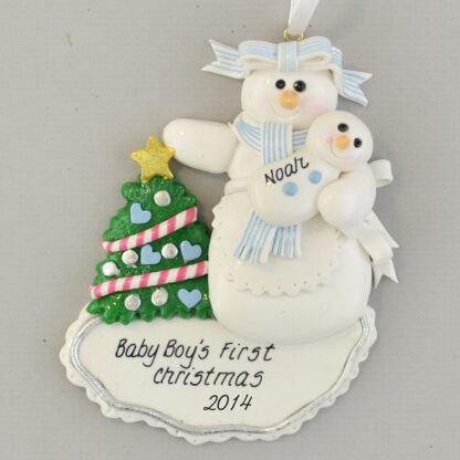 First Born Son personalized Christmas Ornaments
