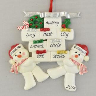 Grandparents of Eight Personalized Ornament