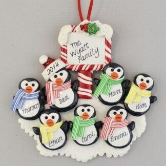 Penguins (7) Personalized Christmas Ornaments