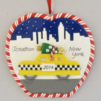 New York Skyline personalized Christmas Ornaments