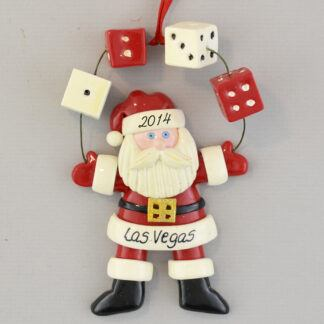 The Las Vegas Santa with Dice personalized christmas Ornaments