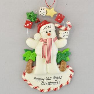 The Las Vegas Dice personalized christmas Ornaments