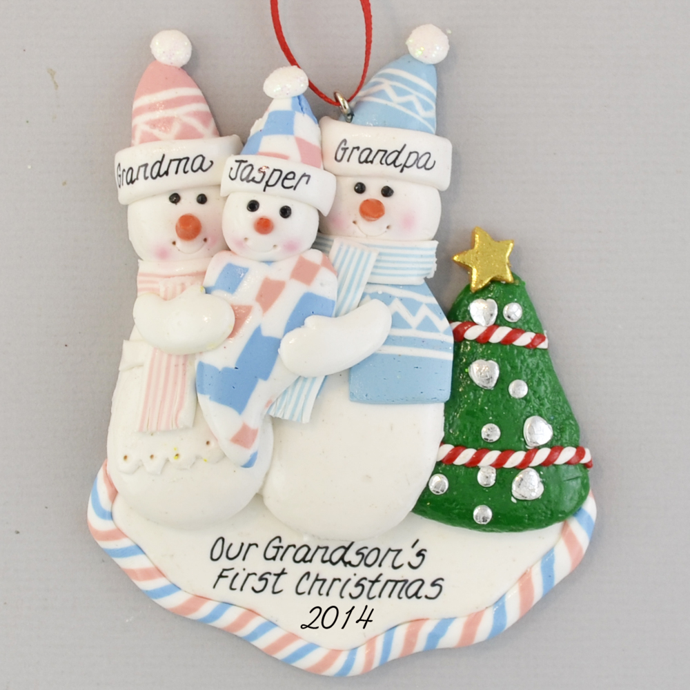 First Grandchild - Grandson\'s First Christmas Ornament | Calliope