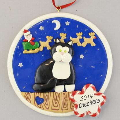 Kitty Cat - Black - personalized christmas Ornaments