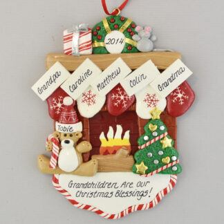 Proud Grandparents of Five Personalized Christmas Ornament