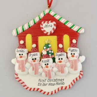 First Christmas New House for Five personalized christmas Ornaments