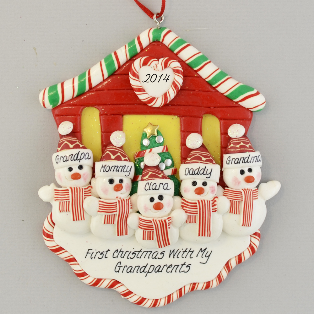 first christmas with grandparents personalized ornament