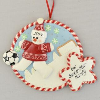 Soccer Star personalized christmas Ornaments
